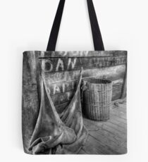 Inside the woolshed. Tote Bag