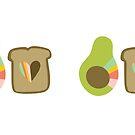 Avocado Toast Love by mandyfordart