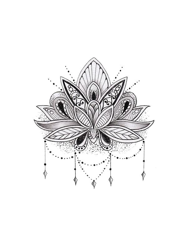 quotmandala lotus flowerquot stickers by mermaidnatalie redbubble