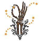 Halloween Skeleton Hand with Star by HoneyBeeCre8tiv