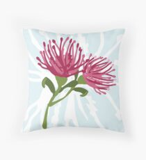 Australian Native Pink Grevillea Throw Pillow