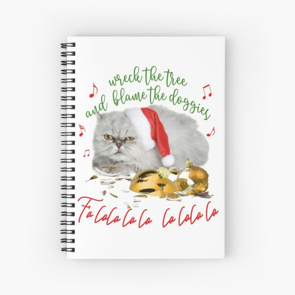 Funny Christmas Cat Falalalala Spiral Notebook