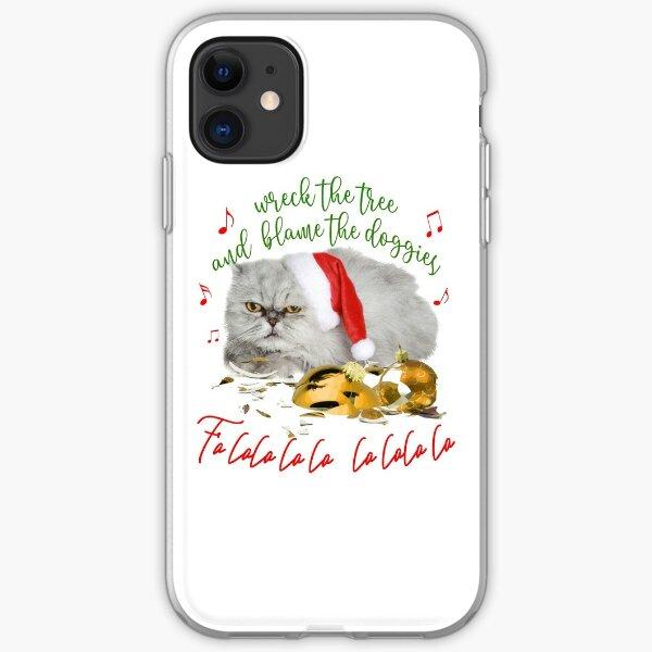 Funny Christmas Cat Falalalala iPhone Soft Case