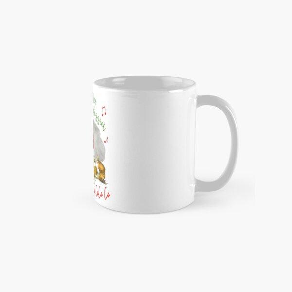 Funny Christmas Cat Falalalala Classic Mug