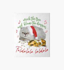 Funny Christmas Cat Falalalala Art Board Print