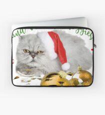 Funny Christmas Cat Falalalala Laptop Sleeve
