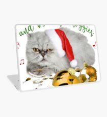 Funny Christmas Cat Falalalala Laptop Skin