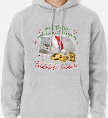 Funny Christmas Cat Falalalala Pullover Hoodie