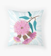 Australian Gum Blossom - Australiana decor - Native Aussie Flower - Contemporary Art Throw Pillow