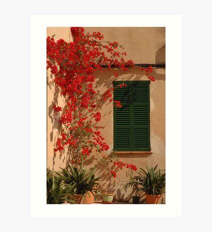 The green window Art Print
