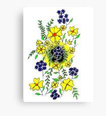 Yellow Flower Spray Canvas Print