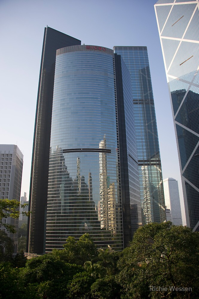 Hong Kong Skyscraper Reflections by Richie Wessen