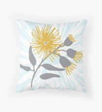 Australian Flowering Gum Blossom - Australiana decor - Aussie Flora Throw Pillow