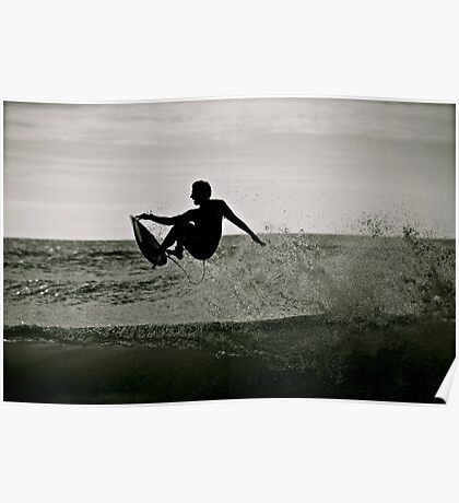 Surfing the Silhouette  Poster