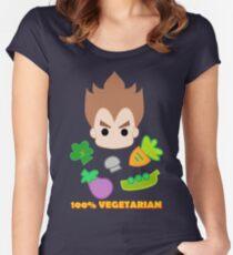 Vegeta - 100percent vegetarian Women's Fitted Scoop T-Shirt