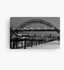 Tyne Bridge Black and White Canvas Print