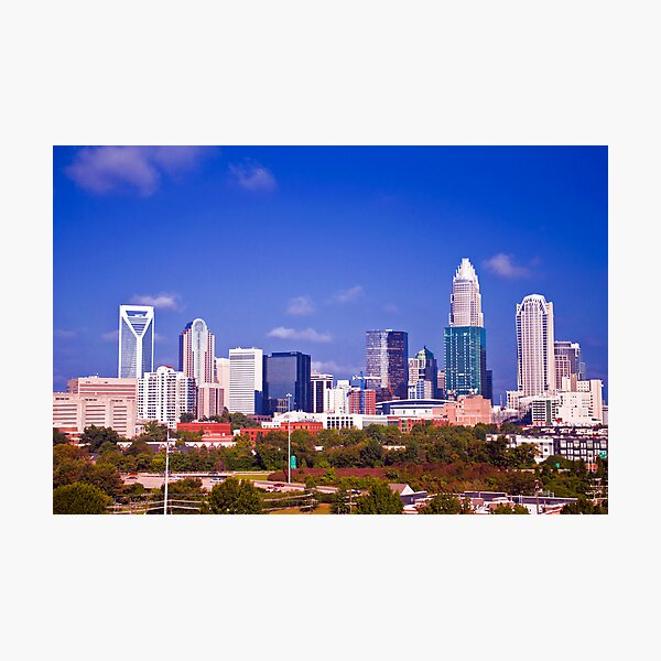 Charlotte NC skyline Photographic Print