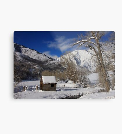 Winter's Retreat Metal Print