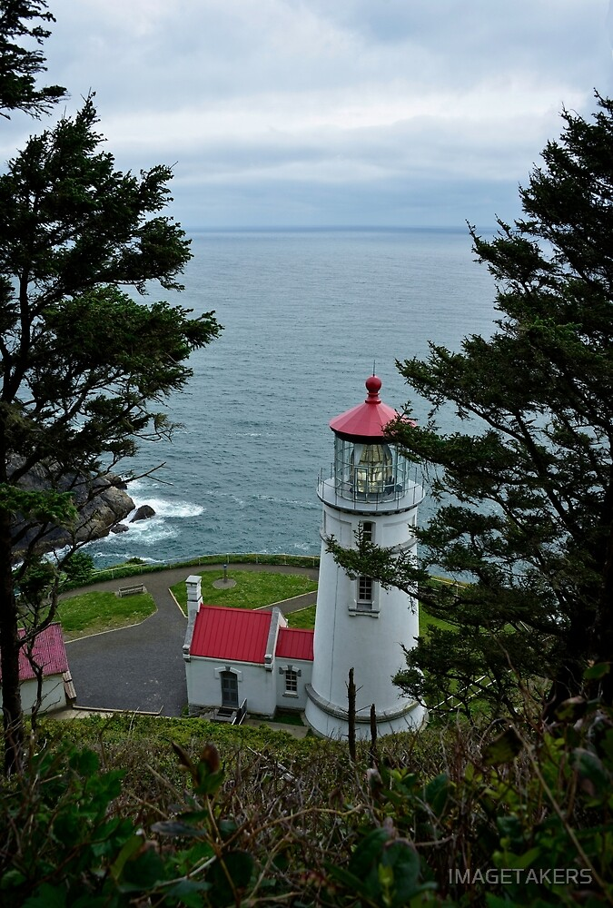 Heceta Head Lighthouse - Looking Over The Ocean by IMAGETAKERS