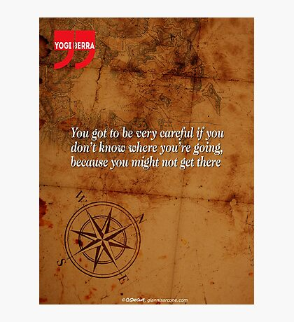 Going Nowhere (Quotation) Photographic Print