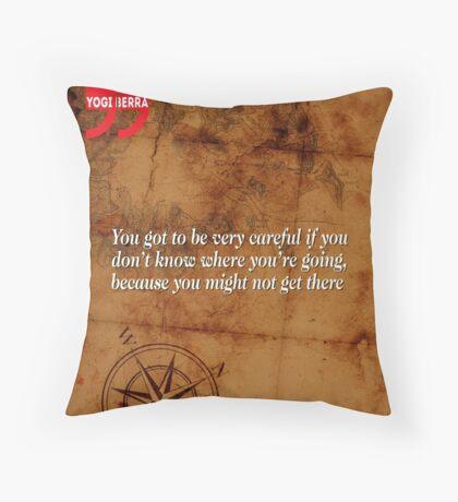Going Nowhere (Quotation) Throw Pillow