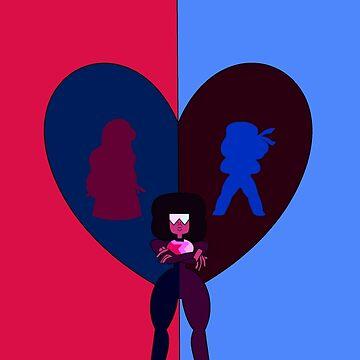 Steven Universe - Ruby, Sapphire, and Garnet by xbritt1001x