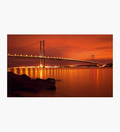 Forth Bridge In Gold Photographic Print