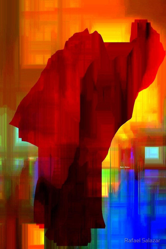 Red Abstract by Rafael Salazar