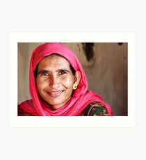 Bishnoi Woman, India Art Print