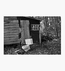 Redneck Bathroom Photographic Print
