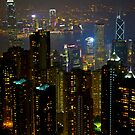 Hong Kong Portrait View - from the Peak by Richie Wessen