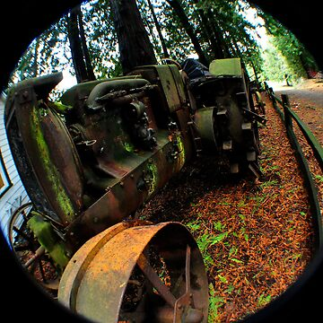 Antique Mossy Tractor by claytonbruster