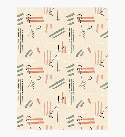 Tribal Signs #redbubble #pattern Photographic Print