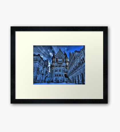 A Mad King's Courtyard Framed Print