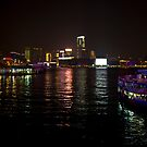 Panoramic Night View of Kowloon Hong Kong by Richie Wessen