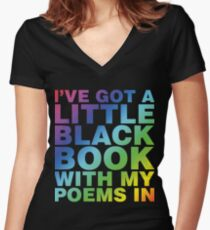 A Little Black Book Fitted V-Neck T-Shirt