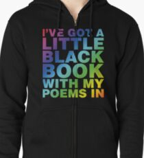 A Little Black Book Zipped Hoodie