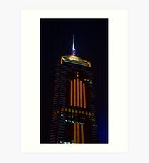 Wan Chai Tower by Night - Hong Kong Art Print