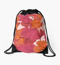 Autumn Ginkgo Leaves Drawstring Bag