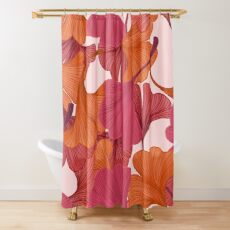 Autumn Ginkgo Leaves Shower Curtain