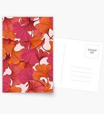 Autumn Ginkgo Leaves Postcards