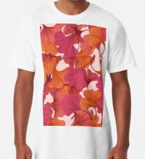 Autumn Ginkgo Leaves Long T-Shirt