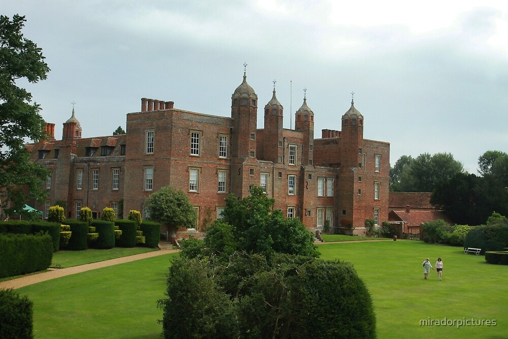 The south lawns at Long Melford hall by miradorpictures