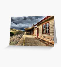 Heritage Listed Cooma Railway Station Platform Side Greeting Card