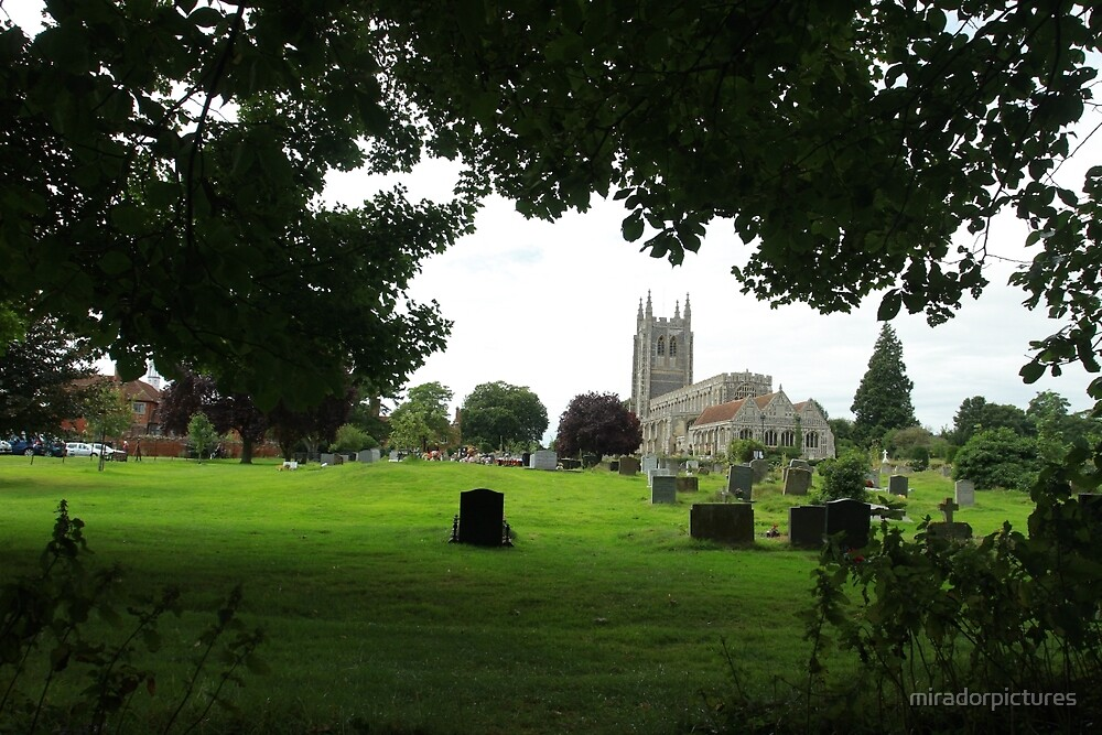 The historic Long Melford church by miradorpictures