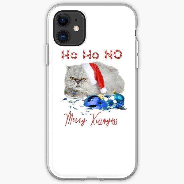 Funny Christmas Cat Merry Kissmyass iPhone Soft Case
