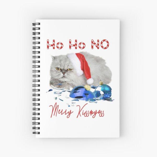 Funny Christmas Cat Merry Kissmyass Spiral Notebook