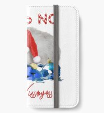 Funny Christmas Cat Merry Kissmyass iPhone Wallet/Case/Skin
