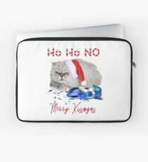 Funny Christmas Cat Merry Kissmyass Laptop Sleeve