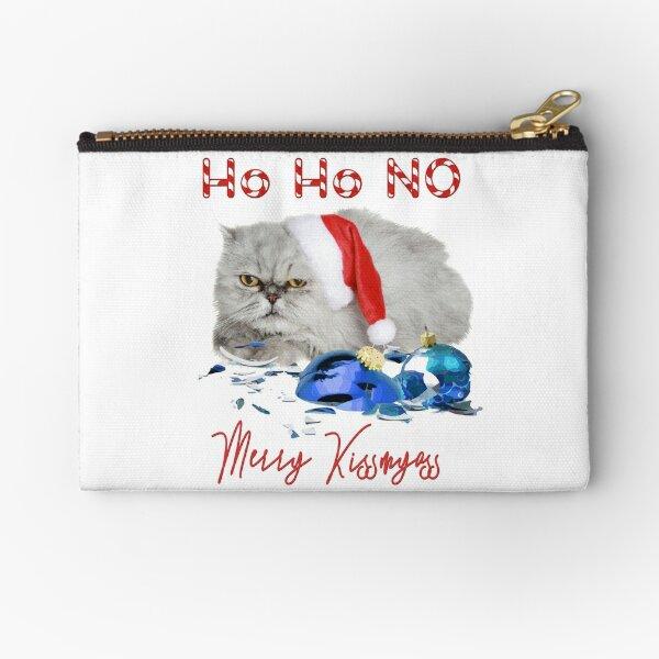 Funny Christmas Cat Merry Kissmyass Zipper Pouch